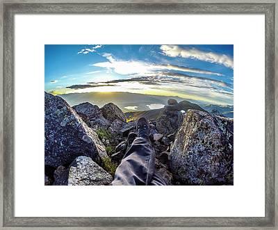 Sunrise From Mt. Elbert Framed Print by Erik Dane