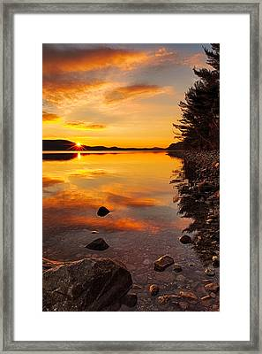 Sunrise From Old Enfield Road -quabbin Gate 5 Framed Print by Stephen Gingold
