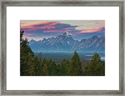 Sunrise From Signal Mountain Framed Print