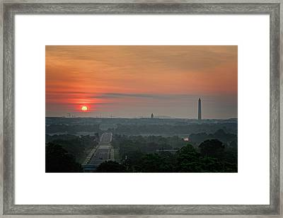 Framed Print featuring the photograph Sunrise From The Arlington House by Cindy Lark Hartman