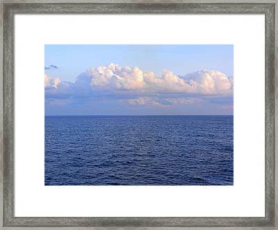 Sunrise From The Atlantic Ocean Framed Print