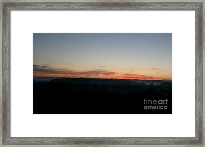 Framed Print featuring the photograph Sunrise From The Midnight Train To Moscow by Robert D McBain