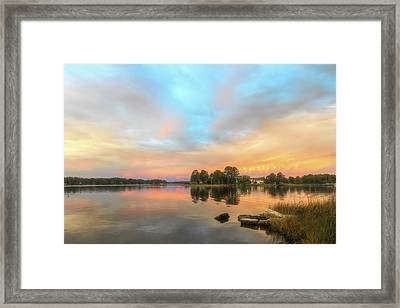 Framed Print featuring the photograph Sunrise, From The West by Cindy Lark Hartman