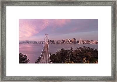 Sunrise From Treasure Island Of San Francisco Framed Print by John McGraw