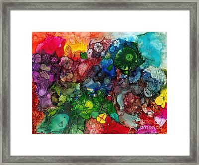 Sunrise Garden Explosion Framed Print