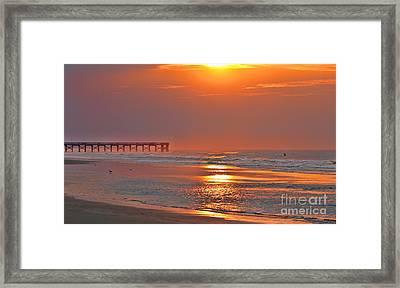 Sunrise Glow On The Isle Of Palms  3008 Framed Print