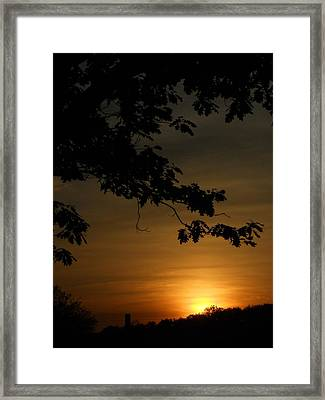 Sunrise Gold Framed Print