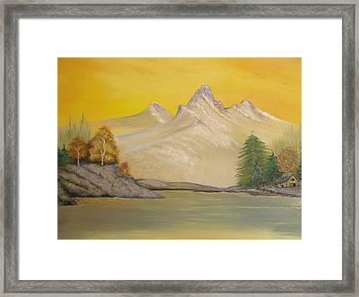 Sunrise Golden Glow Framed Print