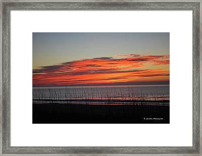 Sunrise Framed Print by Gordon Mooneyhan