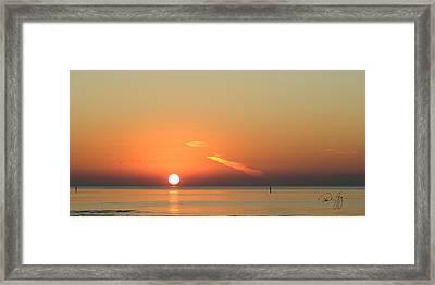 Sunrise Gulfport Mississippi Framed Print