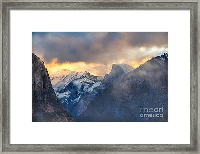 Sunrise Half Dome Framed Print