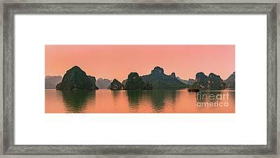 Sunrise Halong Bay, Vietnam Framed Print