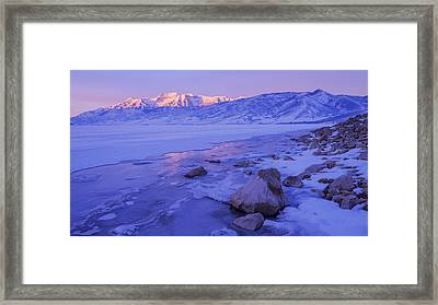 Sunrise Ice Reflection Framed Print by Chad Dutson