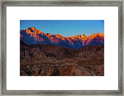 Sunrise Illuminating The Sierra Framed Print