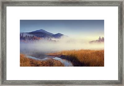 Sunrise In Adirondacks Framed Print