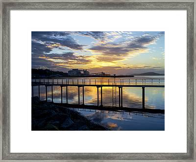 Sunrise In Albany Framed Print by Niel Morley