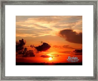Sunrise In Ammannsville Texas Framed Print by Barbara Tristan