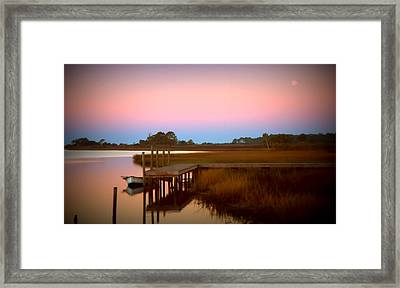 Sunrise In Apalachicola Framed Print