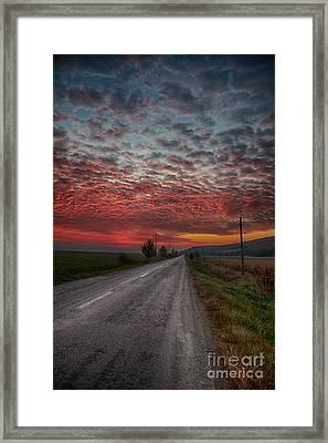 Sunrise In Autumn Framed Print by Gabriela Insuratelu