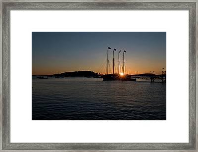 Sunrise In Bar Harbor Framed Print