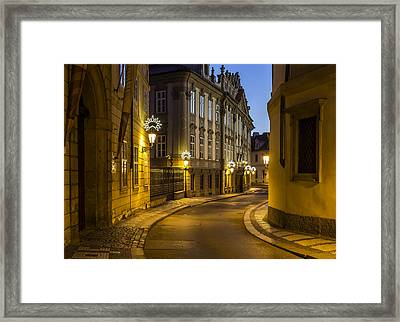Sunrise In Baroque Prague Framed Print by Marek Boguszak