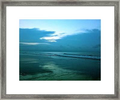 Sunrise In Blue Framed Print