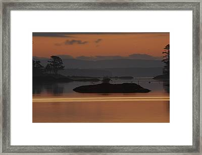 Framed Print featuring the photograph Sunrise In Blue Hill I by Greg DeBeck