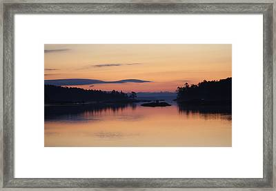 Framed Print featuring the photograph Sunrise In Blue Hill IIi by Greg DeBeck