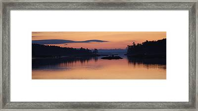 Framed Print featuring the photograph Sunrise In Blue Hill Iv by Greg DeBeck