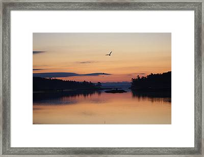 Sunrise In Blue Hill V Framed Print