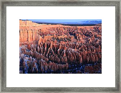Sunrise In Bryce Canyon National Aprk Framed Print by Pierre Leclerc Photography