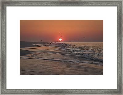 Sunrise In Cape May Framed Print