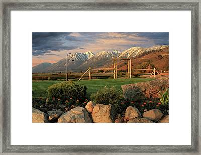 Sunrise In Carson Valley Framed Print