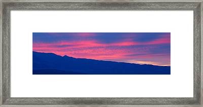 Sunrise In Death Valley National Park Framed Print by Panoramic Images