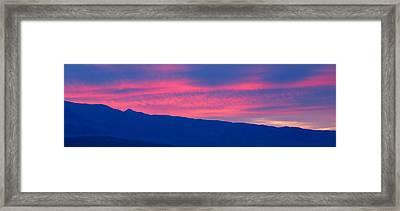 Sunrise In Death Valley National Park Framed Print