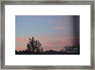 Sunrise In Denton Framed Print by Ruth Housley