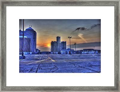 Sunrise In Detroit Mi Framed Print by Nicholas  Grunas