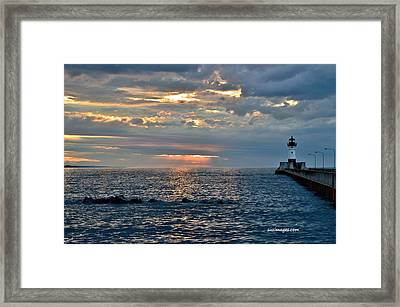 Sunrise In Duluth Framed Print