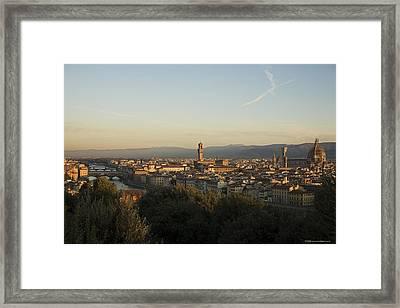Sunrise In Florence Framed Print by Luigi Barbano BARBANO LLC