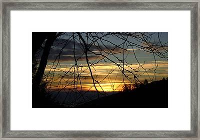 Sunrise In Fracture Framed Print