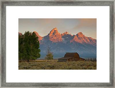 Sunrise In Jackson Hole Framed Print