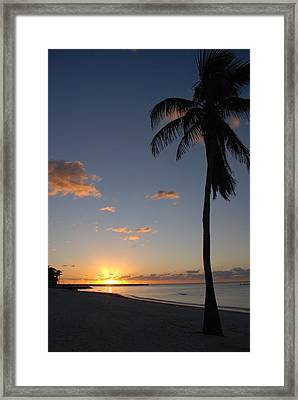 Sunrise In Key West 2 Framed Print by Susanne Van Hulst