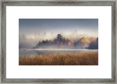 Sunrise In Lake Placid  Framed Print