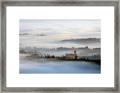 Sunrise In Levizzano Framed Print
