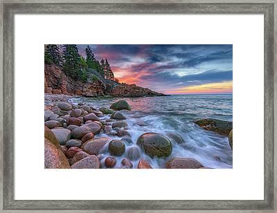 Sunrise In Monument Cove Framed Print by Rick Berk