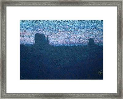Sunrise In Monument Valley Framed Print by Suzie Majikol Maier