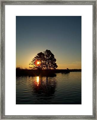 Sunrise In Moyock Nc Framed Print