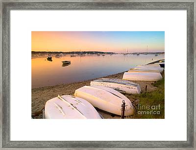 Sunrise In Osterville Cape Cod Massachusetts Framed Print