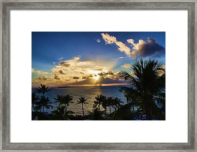 Sunrise In Paradise 12 Framed Print