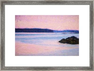 Sunrise In Pink Framed Print